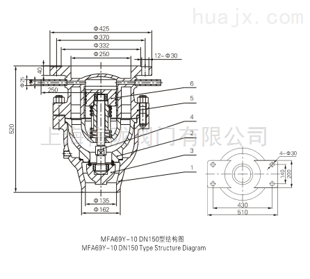 MFA69Y- 10 DN150 高压主安全阀(W)